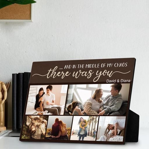 There Was You Custom Desktop Plaque - inexpensive valentine gift