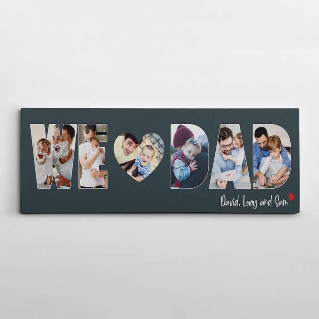 valentines gifts for dads: custom photo canvas print