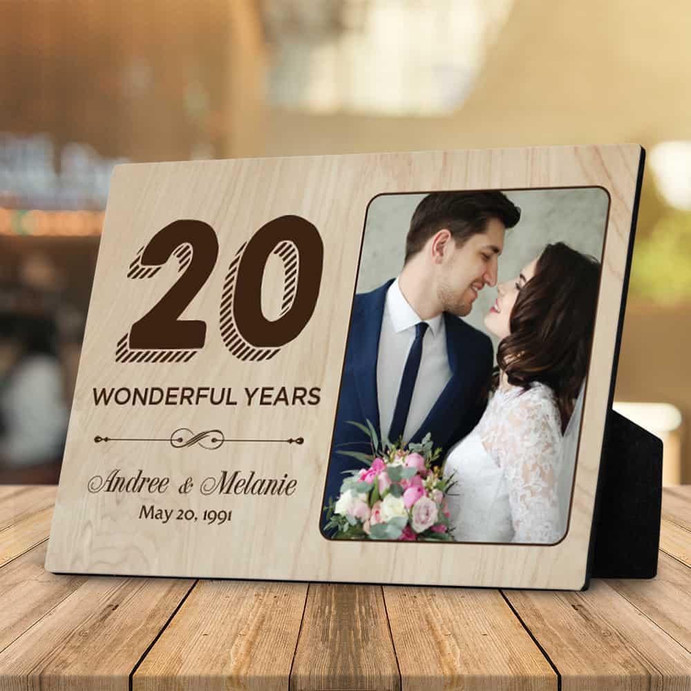 20 wonderful years desktop plaque