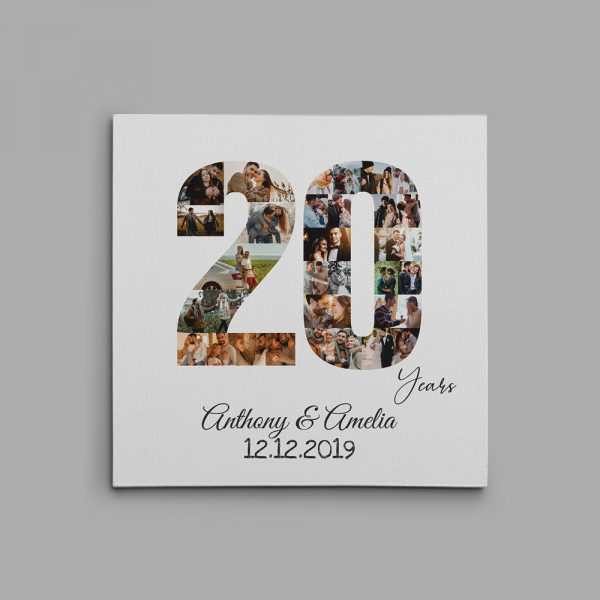 20 Years And Still Counting Photo Collage Canvas Print