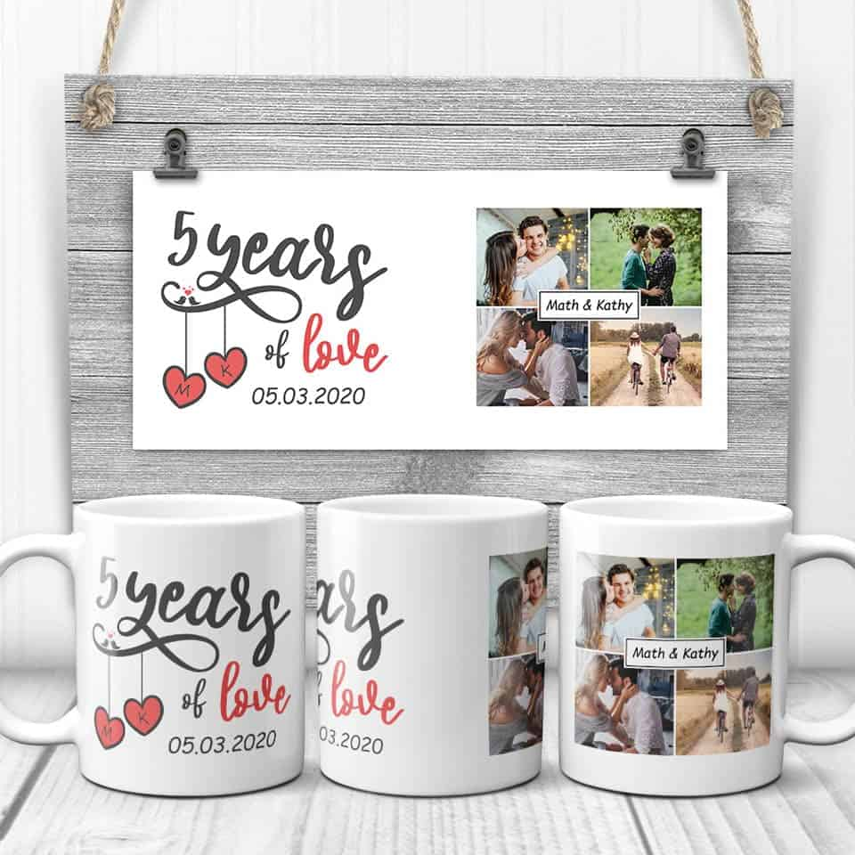 5 Years Of Love Photo Mug