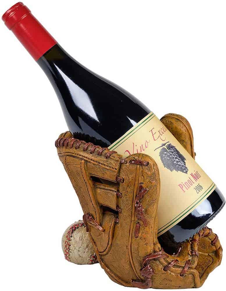Baseball Glove Wine Bottle Holder Gift For Dad