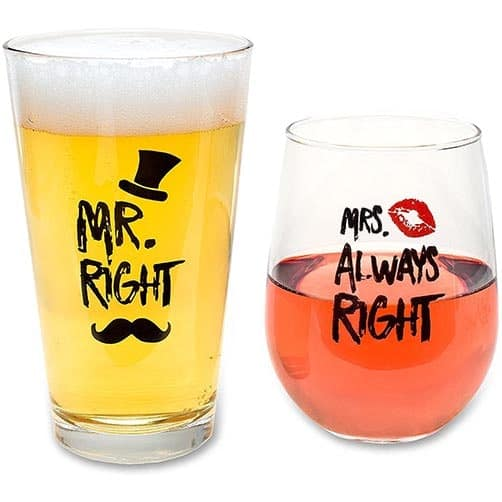 Funny Wedding Gifts - Mr. Right and Mrs. Always Right