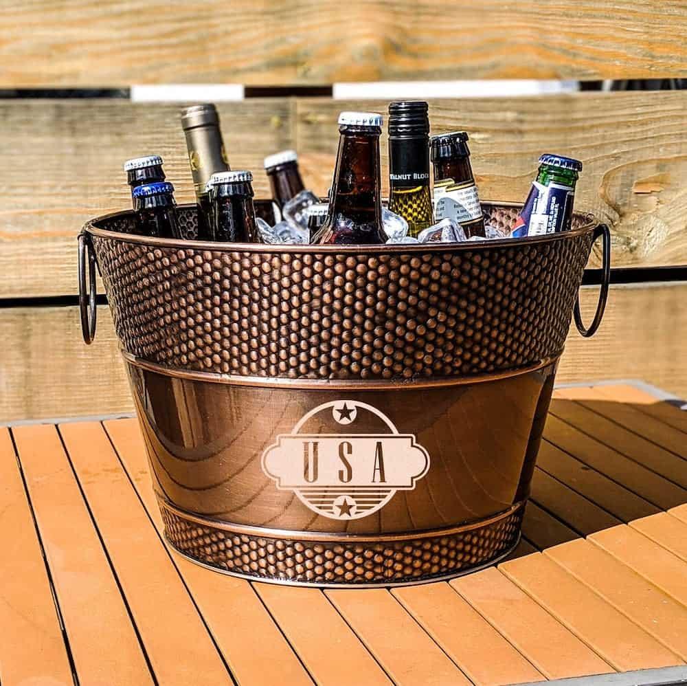 Galvanized Beverage Bucket & Wine Ice Bucket Chiller