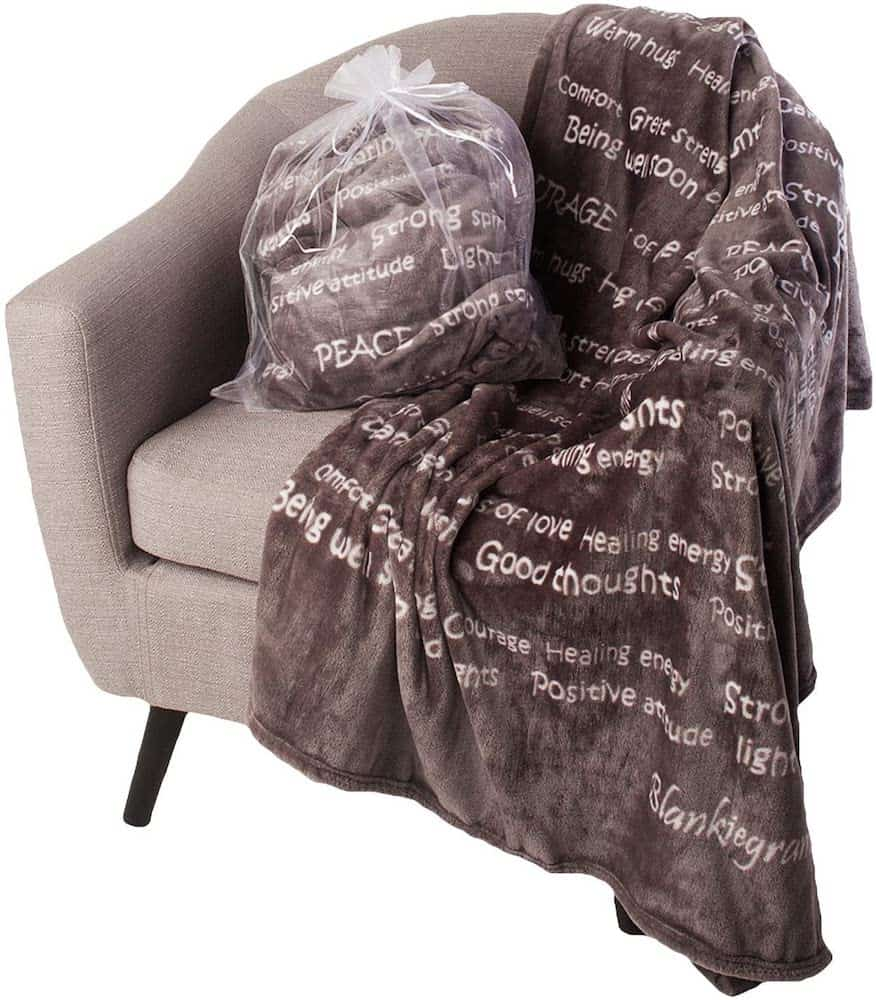 Healing Thoughts Blanket With Healing, inspirational and motivational wordings
