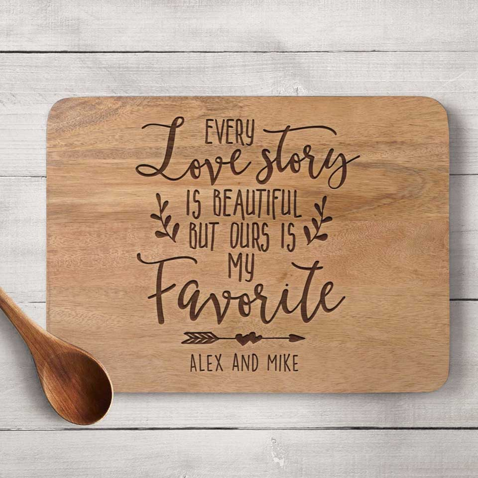 Love Story Cutting Board