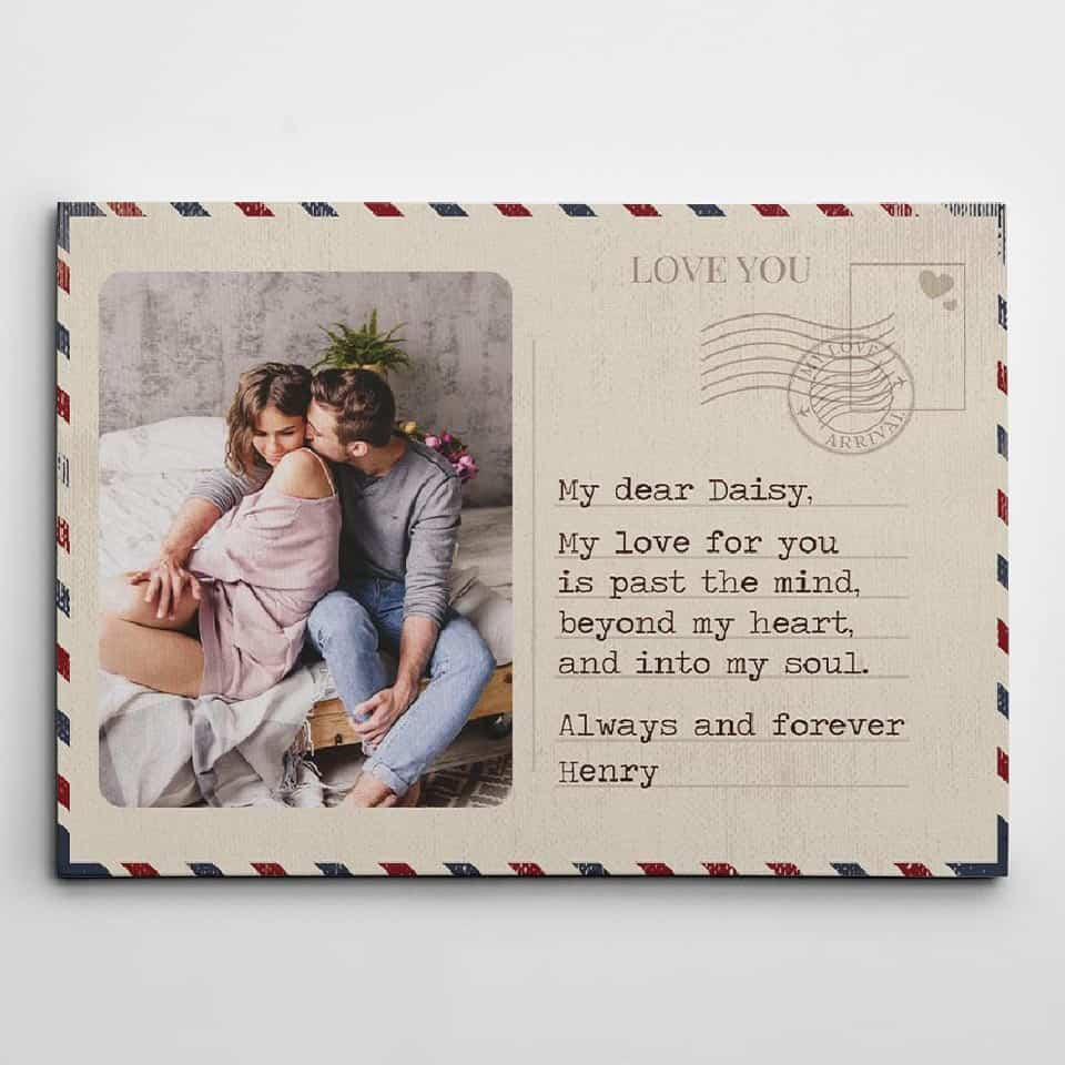 Love You Letter Photo Canvas Print