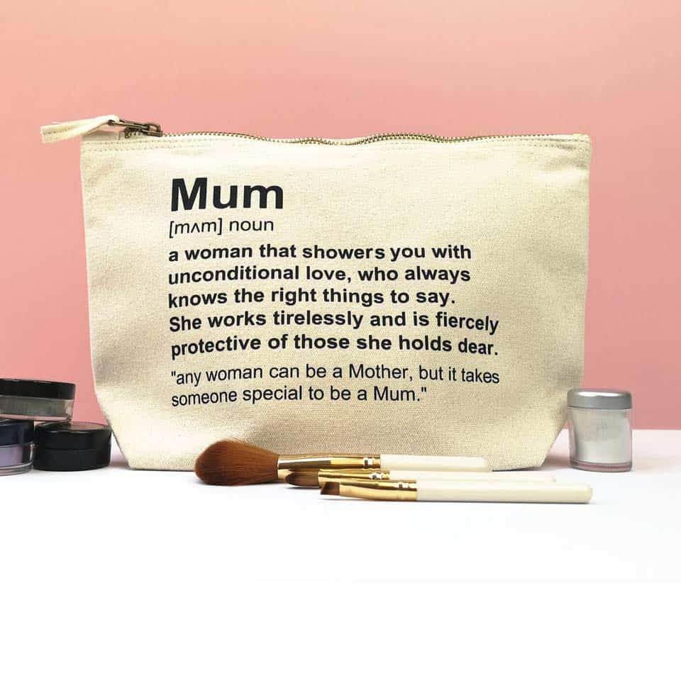Mom Definition Makeup Bag - mum gifts from son