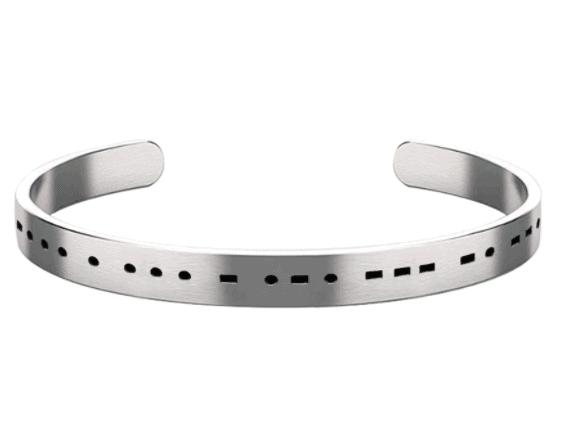 Morse Code Bracelet, Inspirational Bracelet for Women