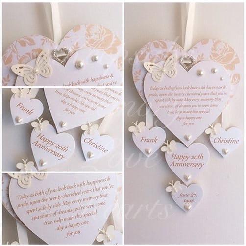 Personalized Wooden Keepsake Heart