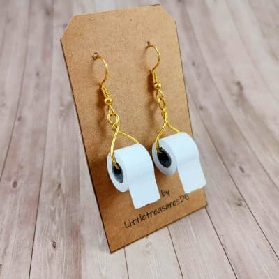 hilarious mothers day - Toilet Paper Earrings