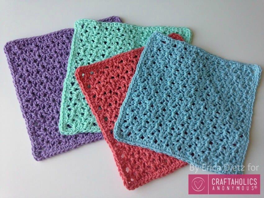 diy gift ideas for mom: crocheted washcloths