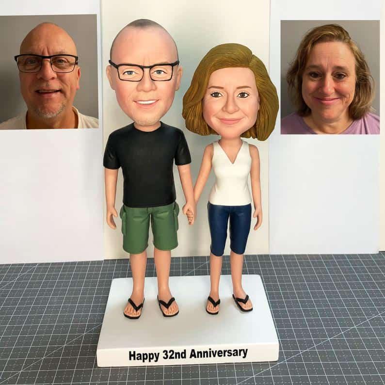 25th anniversary gift ideas for friends: custom bobbleheads