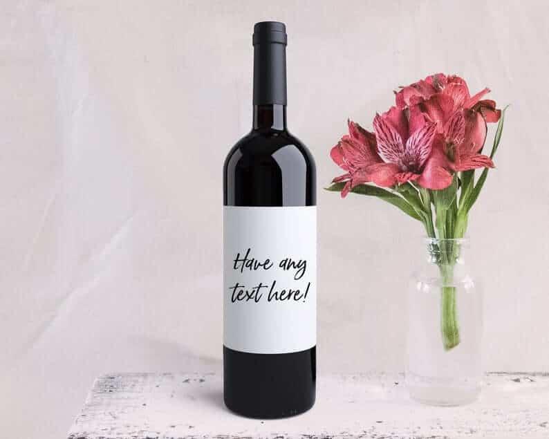 quick anniversary gift: custom wine label