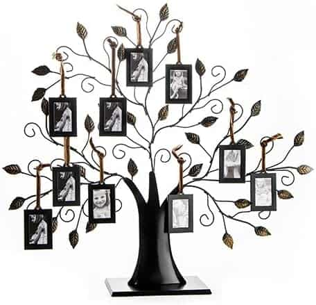 gifts ideas for parents anniversary: family tree photo frame