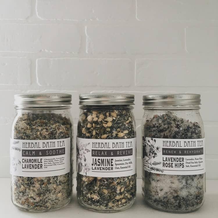 diy mothers day gifts: herbal bath tea