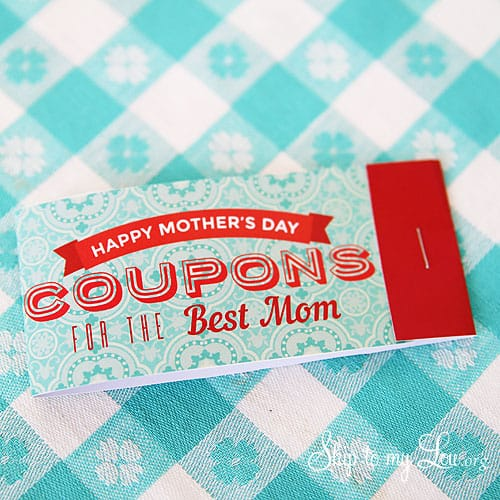 last minute diy mother's day gifts: printable mother's day coupon