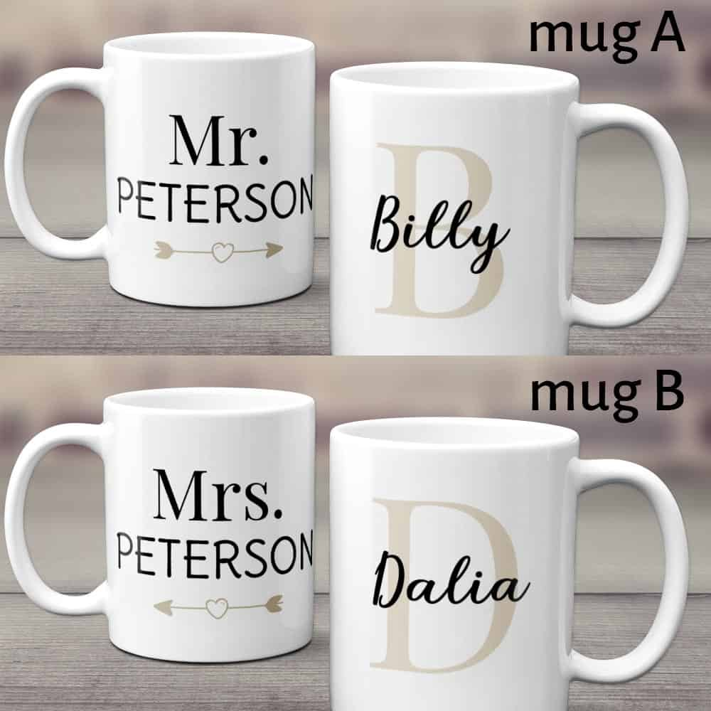 Mr And Mrs Custom Couple Mugs