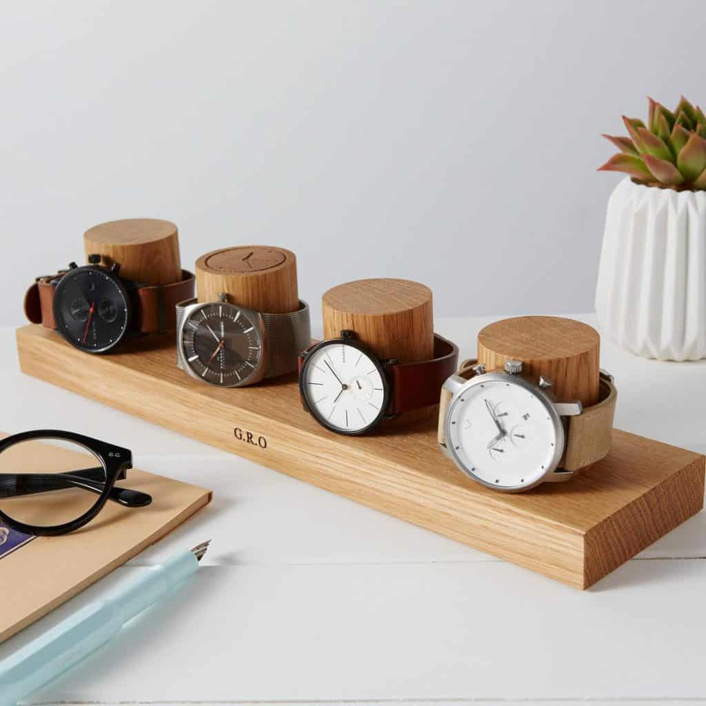 watch stand Personalized Watch Display Watch gift for Dads