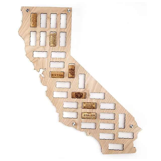 gift ideas for hard to buy for man: wine cork states