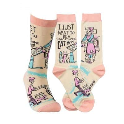 meaningful gifts for mom - Be A Stay At Home Cat Mom Socks