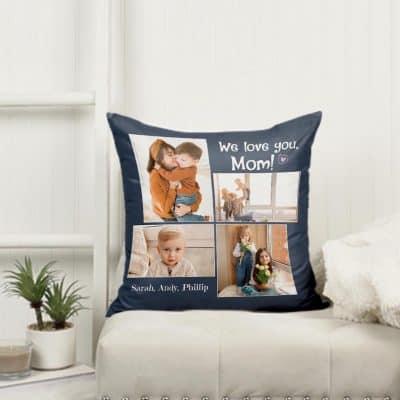 mom gift ideas - Custom Photo Suede Pillow