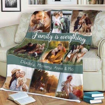 gifts for mothers - Family is Everything Photo Blanket