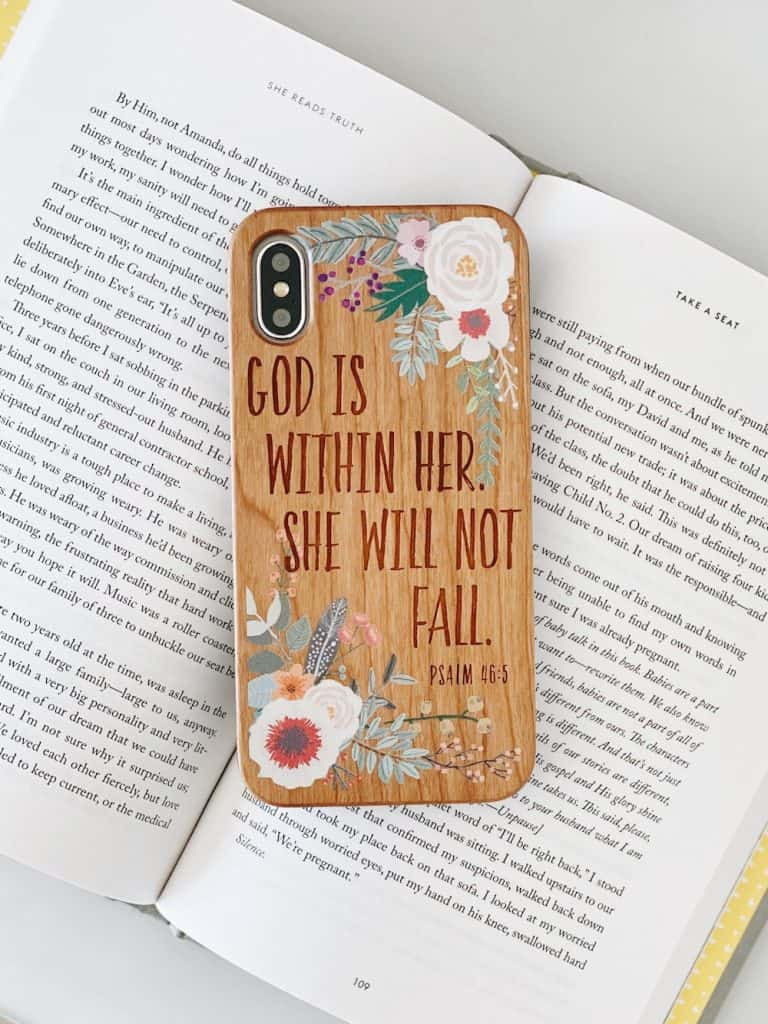 GOD IS WITHIN HER - Wood Phone Case - Christian Mother's Day Gifts For Mom
