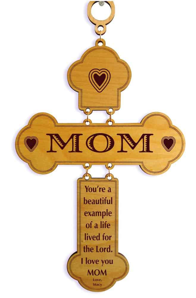Gifts for Christian Mom Personalized Cross