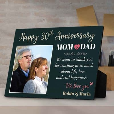 gifts for your mom - Happy Anniversary Desktop Plaque