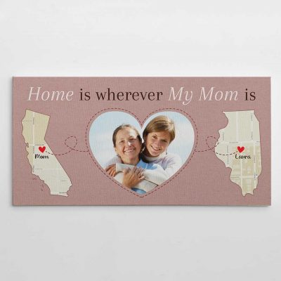 gifts for your mom - State Map Canvas Print