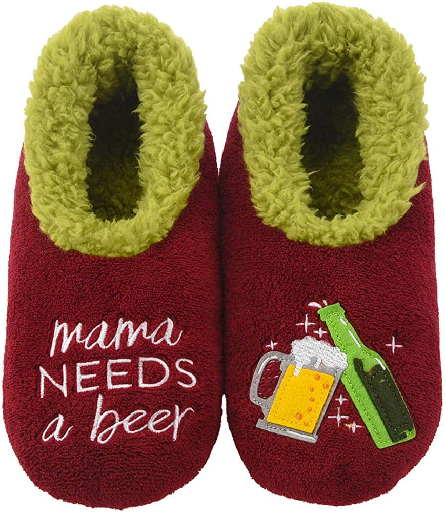 Mama Needs A Beer House Slipper For New Mothers