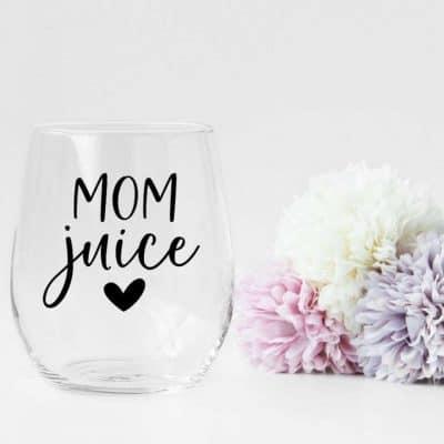 presents for mom - Mom Juice Wine Glass