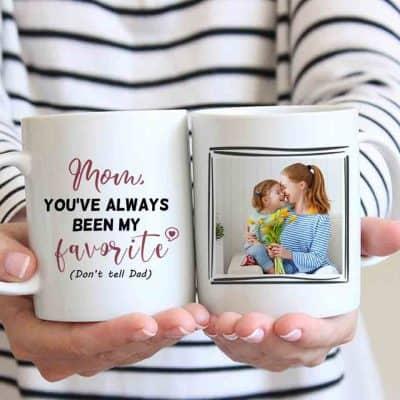 thoughtful gifts for mom - Ceramic Photo Mug