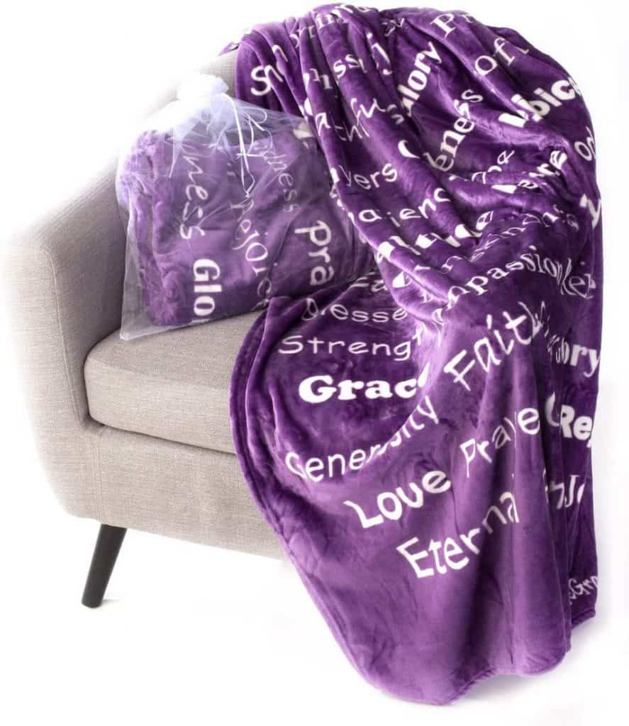 Throw Blanket With Inspiring Words Gift for Mom Birthday