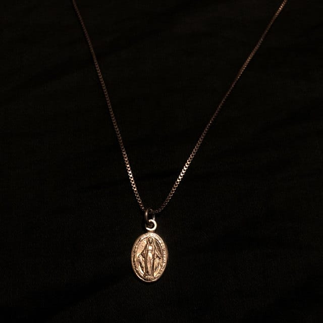 Virgin Mary Necklace Christian  Mother's Day Gift