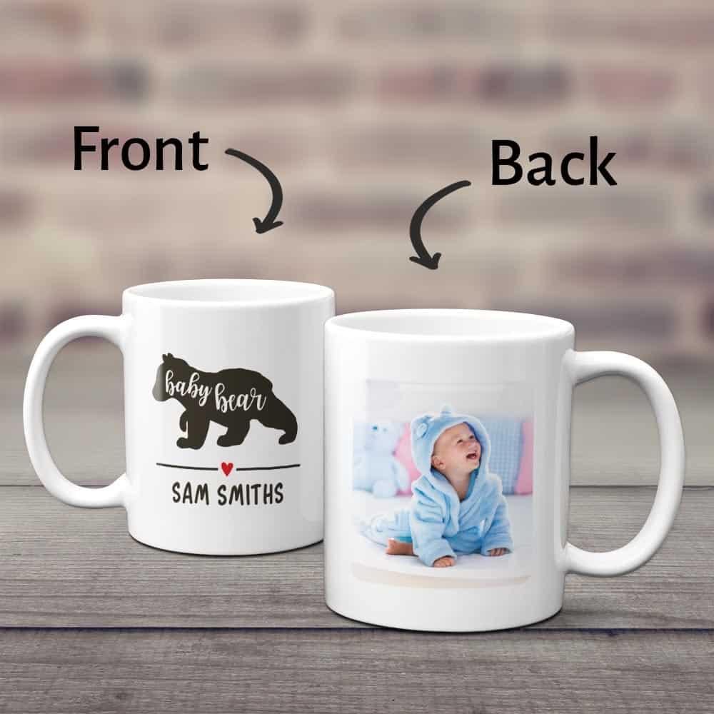 Baby Bear Custom Photo Baby Mug