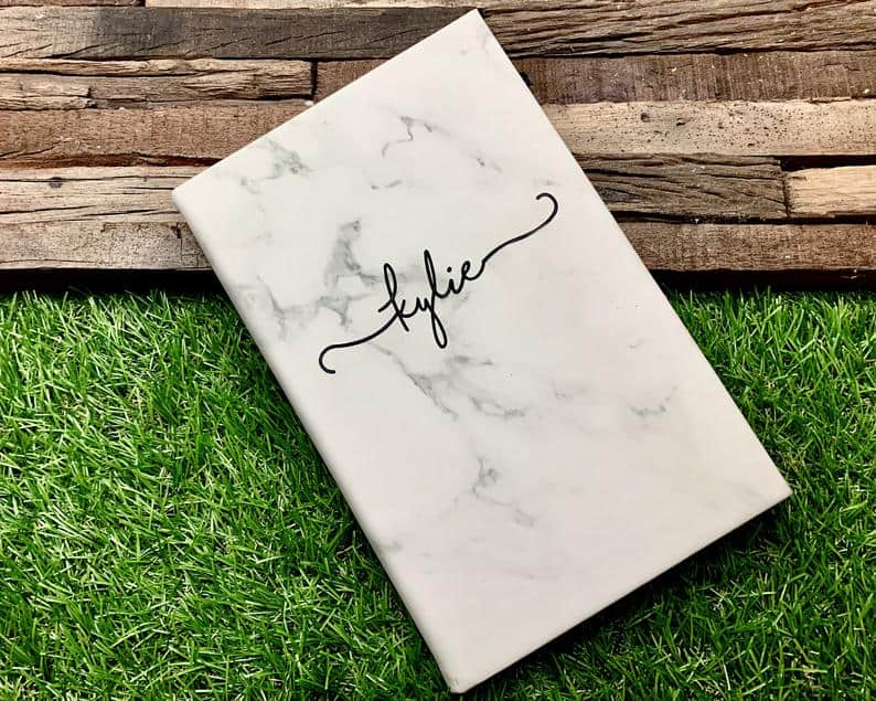 engraved leather journal for women