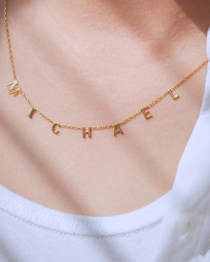 personalized mother's day jewelry: initial necklace