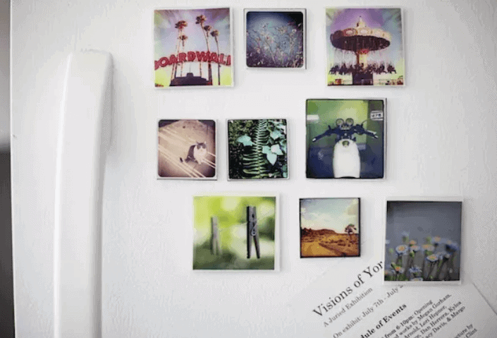 diy anniversary gifts for him: instagram photo magnets