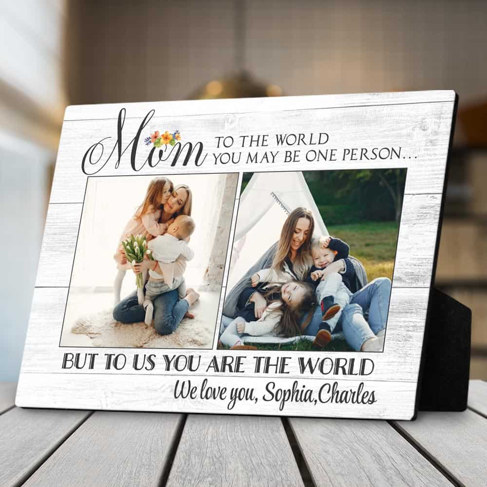 personalized gifts for mothers day: custom desktop plaque