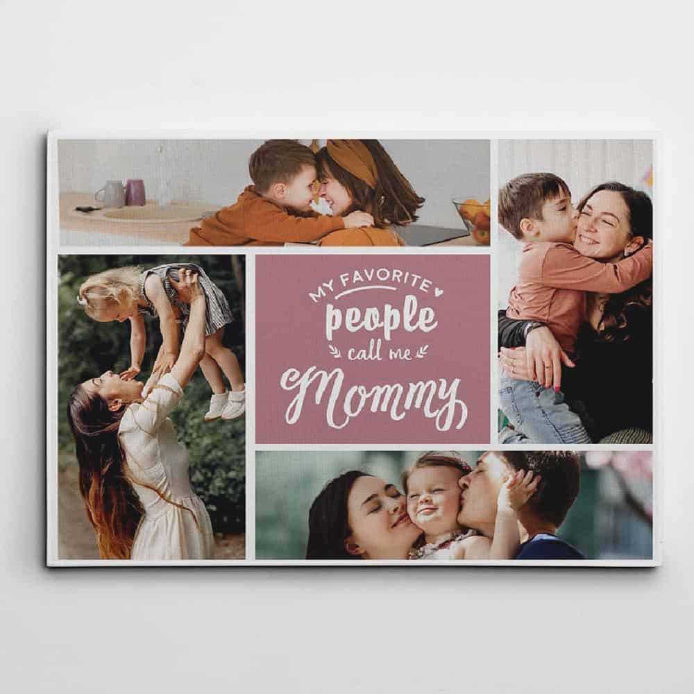 personalized mothers day gifts: photo collage canvas print