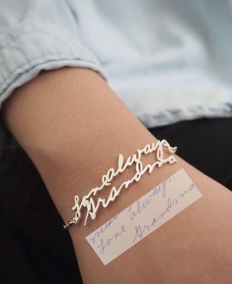 Handwriting Bracelet -custom bracelet
