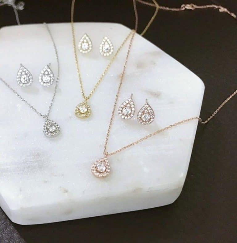 Teardrop jewelry set