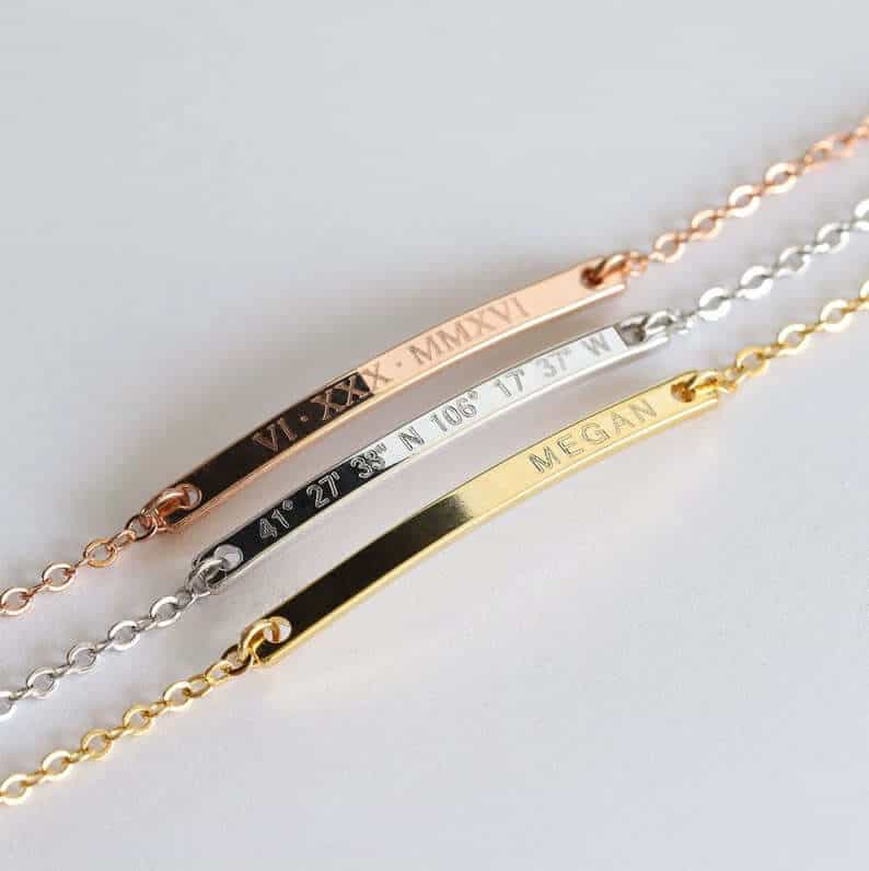 personalized gifts for mothers: personalized bracelets