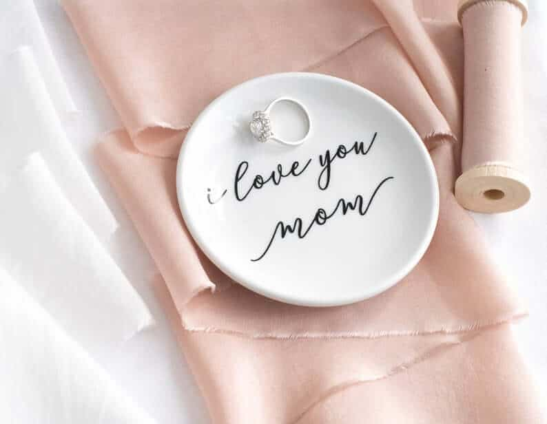 personalized ring dish