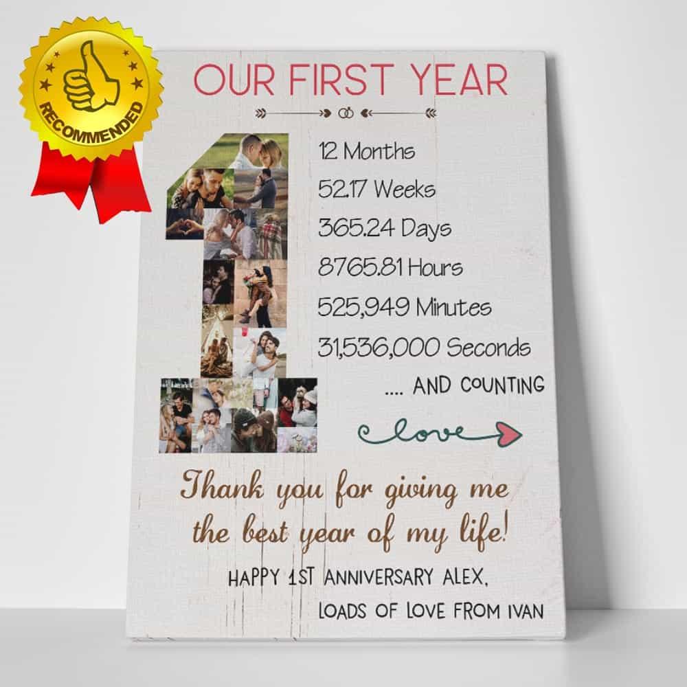 1st Anniversary Custom Photo Collage