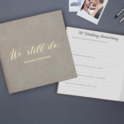 thoughtful anniversary gifts for her: Anniversary Keepsake Journal