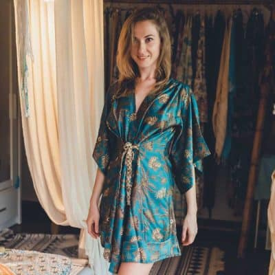 thoughtful anniversary gifts for her:  Boho Kimono Robe
