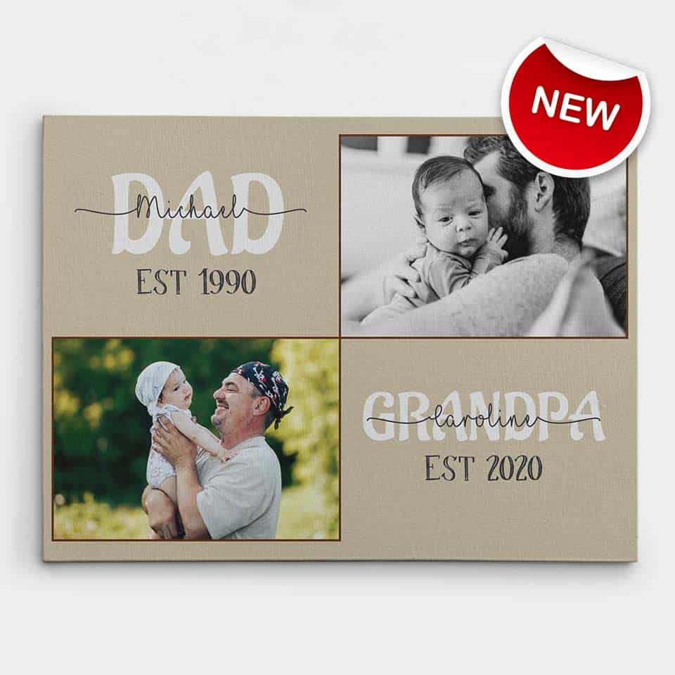personalized fathers day gifts - Custom Dad & Grandpa Canvas